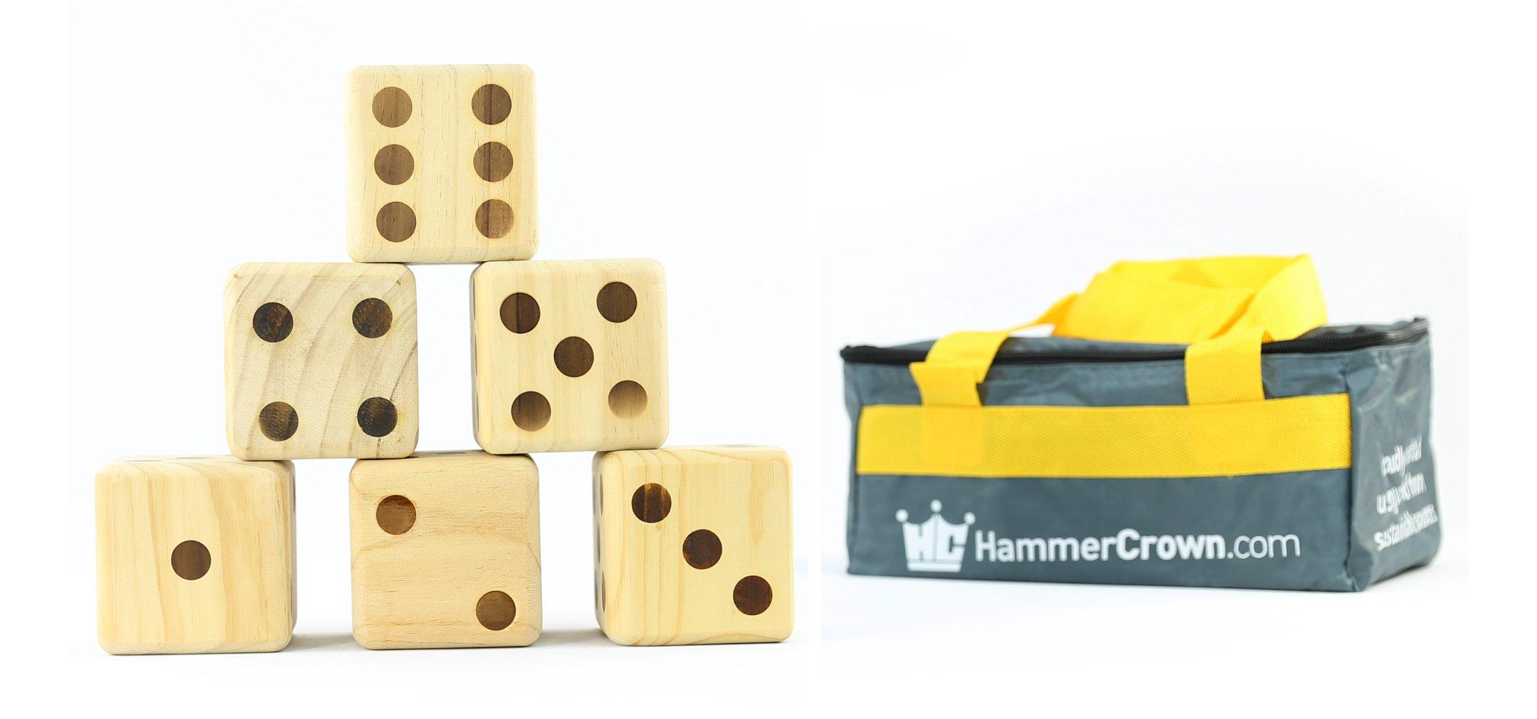 Hammer Crown Giant Dice; Wood Burned