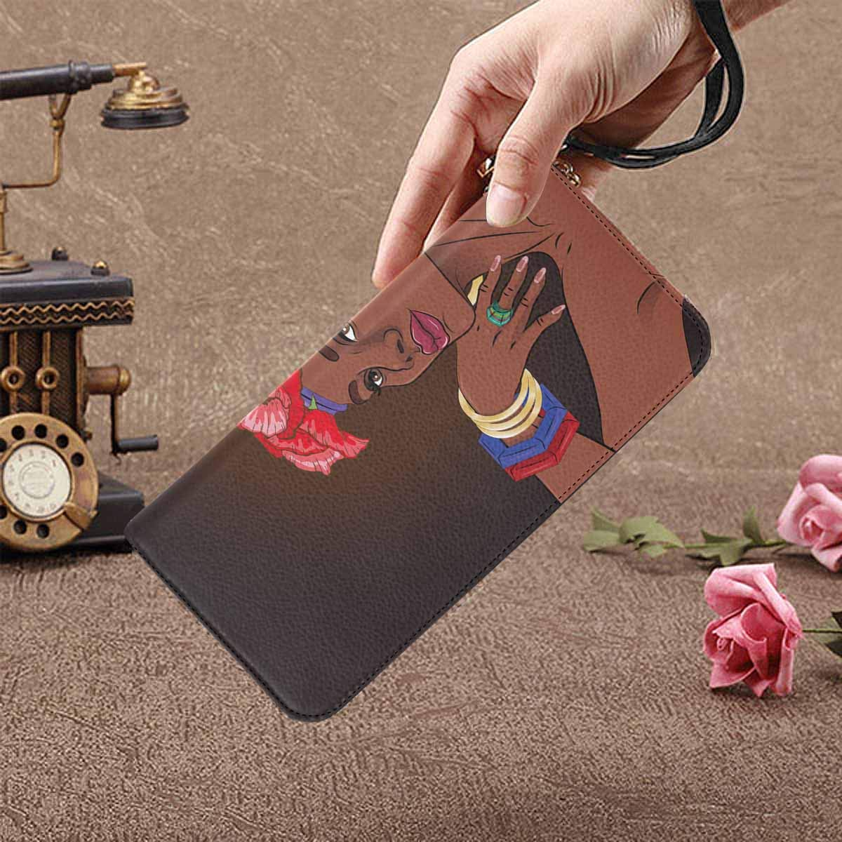 InterestPrint Womens African Art Ethnic Print Clutch Purse Card Holder Organizer Ladies Purse
