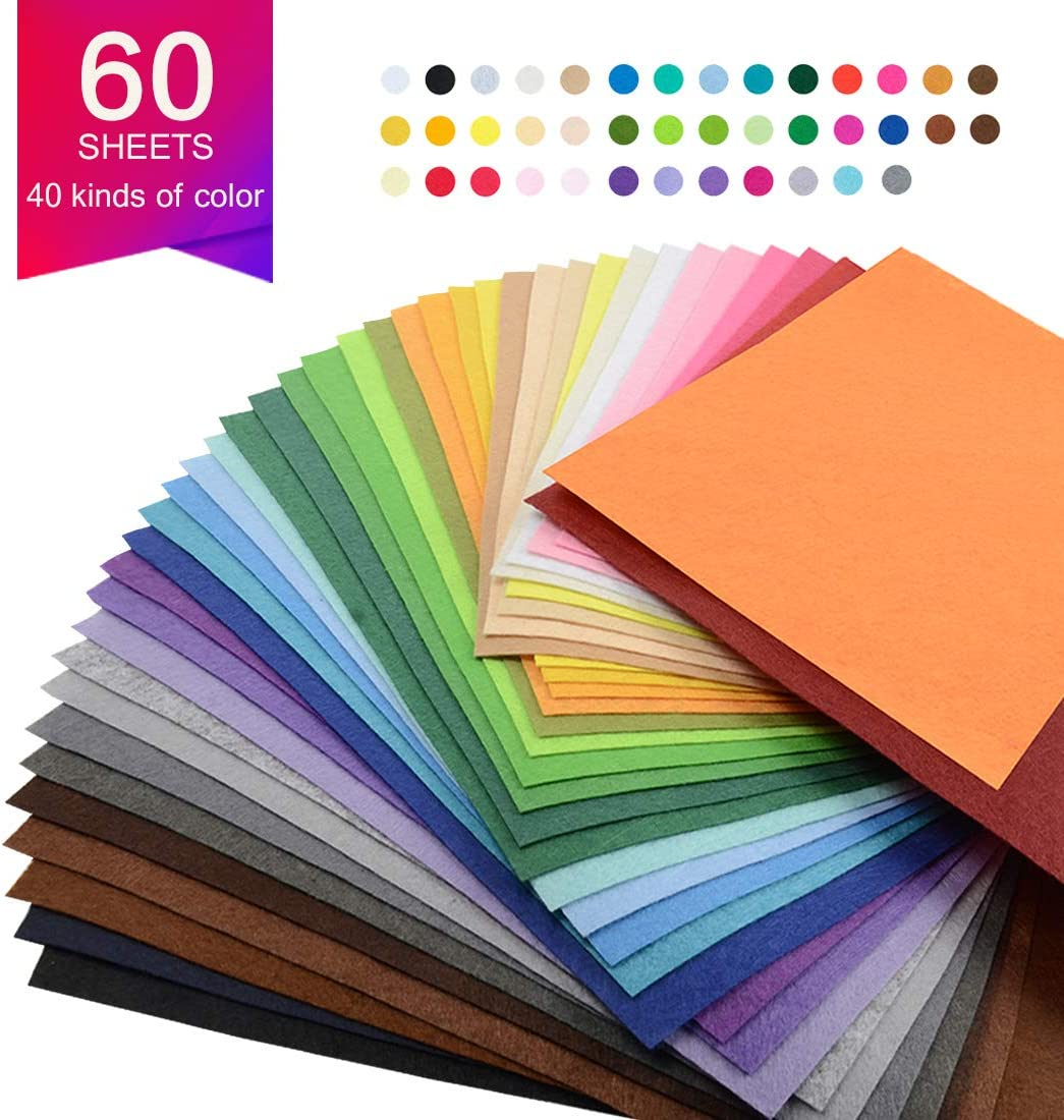41* Color Wool Felt Fabric Sheet Patchwork Material Sewing DIY Craft 15X15cm