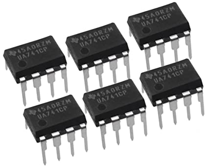Texas Instruments ((50 piezas)) UA741CP IC opamp GP 1 MHz sgl LP