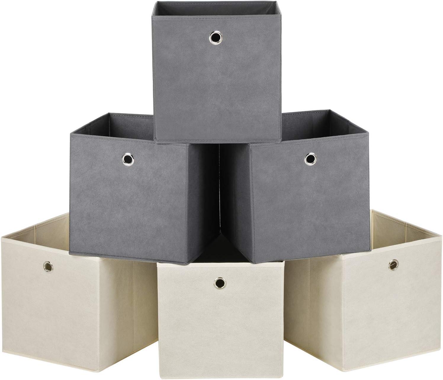 cl/óset 3 Unidades HGYB Juego de cestas de Almacenamiento Grandes Caja de Almacenamiento Plegable de Tela de Lona con Asas para el hogar Oficina