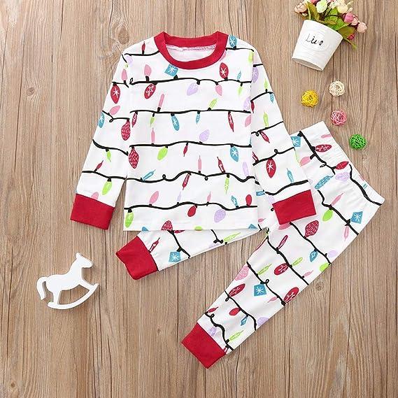 c573c120803 Amazon.com  WensLTD Christmas Matching Family Pajamas - Womens Boys Girls  Long Sleeve Cotton Pjs Sleepwear Romper Jumpsuit Min Dress  Sports    Outdoors
