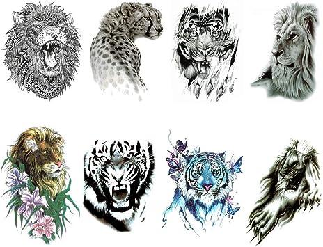 Tojan Temporal Tattoo Animals/Paquete de 4 Tablones Diferentes ...
