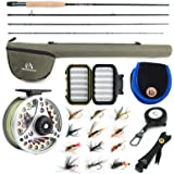 M MAXIMUMCATCH Maxcatch Extreme Fly Fishing Combo Kit 3/5/6/8 Weight, Starter Fly Rod and Reel Outfit, with a Protective…