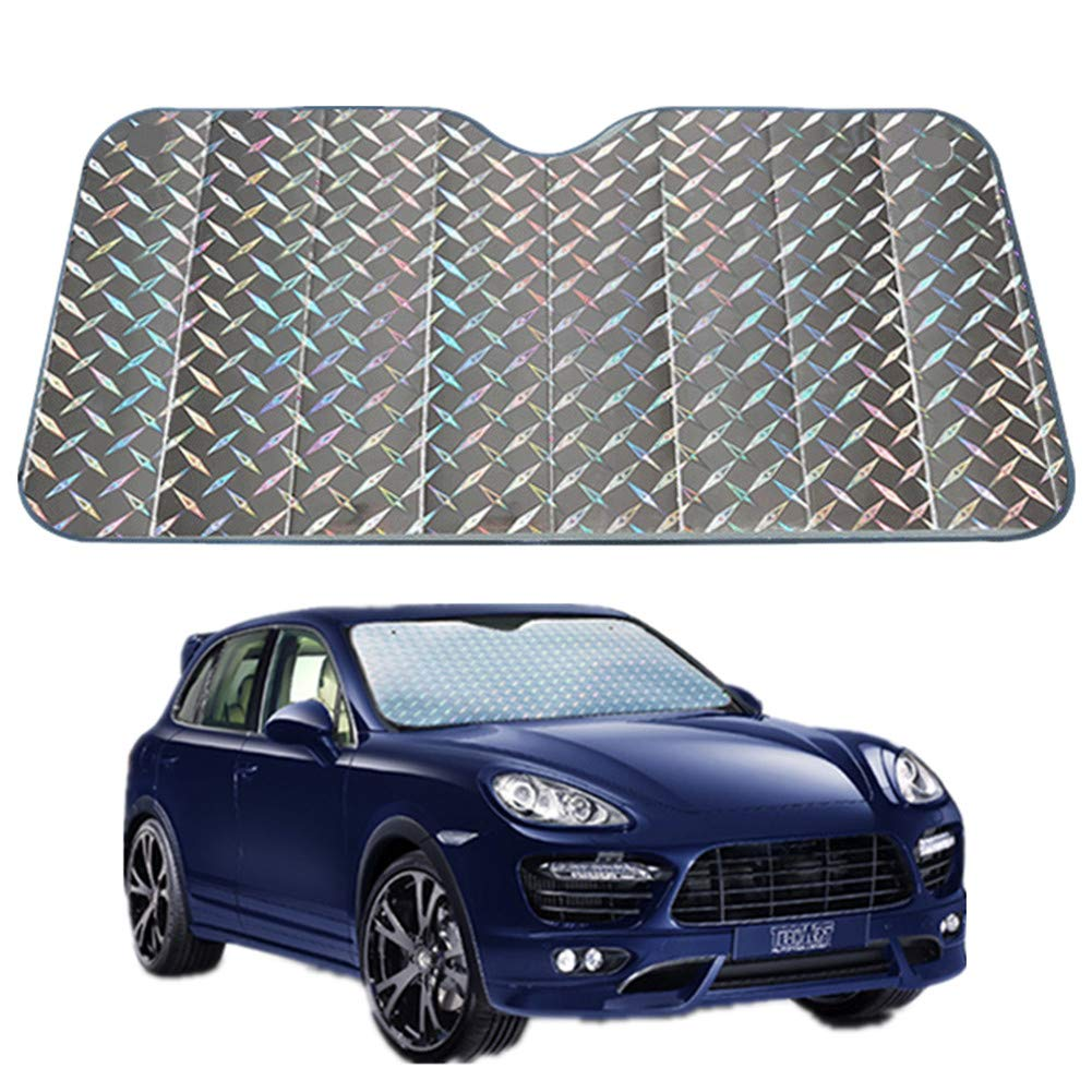 130 * 70 cm Two-seater Happyit Universal Car Sunshade Insulation Front Windshield Sunscreen Waterproof Wind Snow Frost Sun Visor Sun Block Foldable