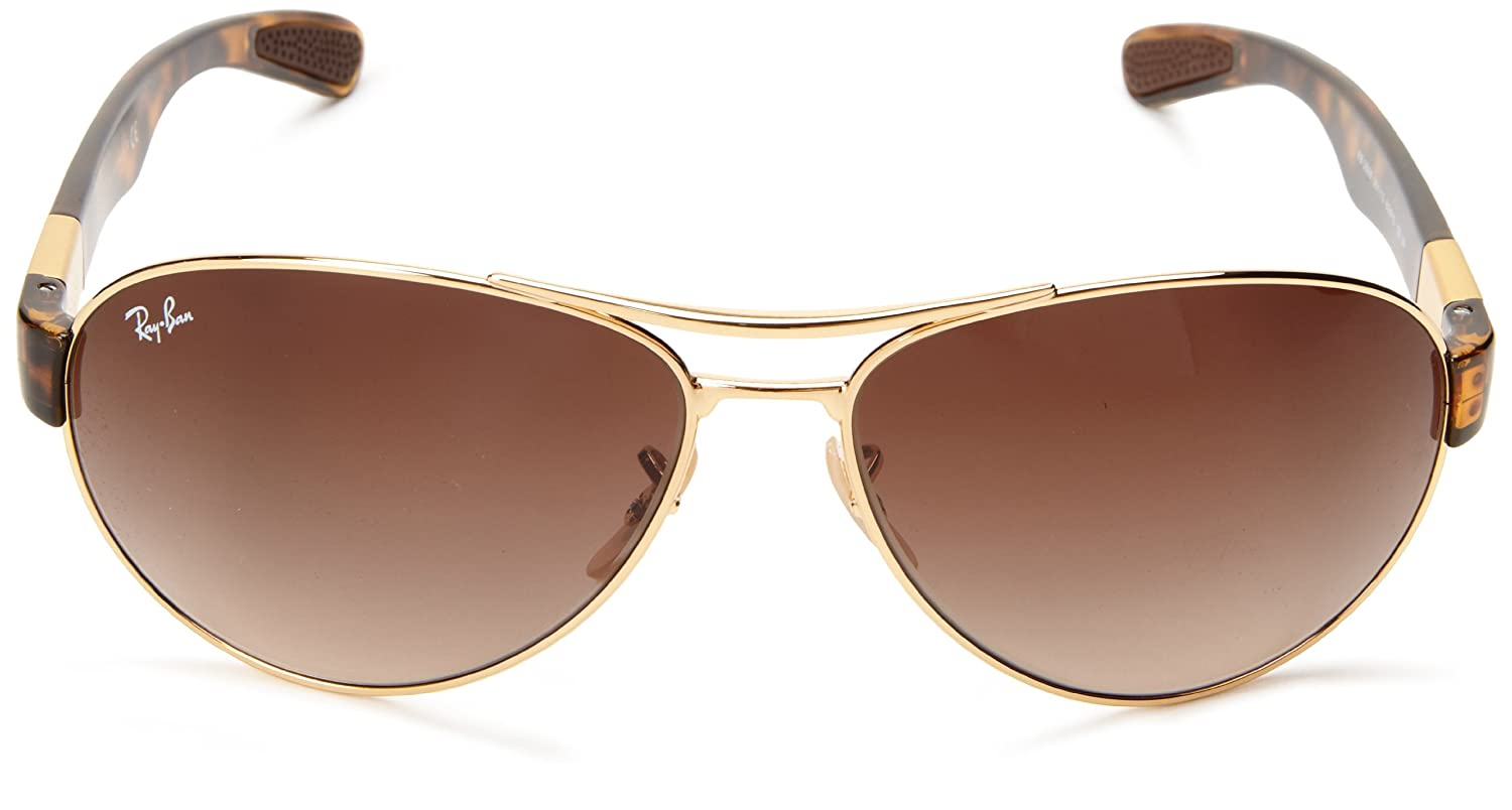 9bbbe05481 Amazon.com  Ray-Ban RB3509 - ARISTA Frame BROWN GRADIENT Lenses 63mm Non- Polarized  Ray-Ban  Clothing