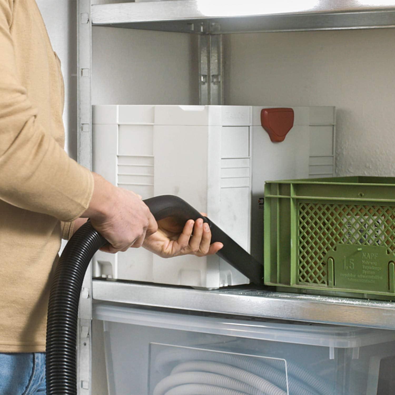 Bosch Universal Vac 15 - Aspirador en seco y húmedo, bolsa de filtros de papel, 1000 W y 15 l (incluye boquillas para ranuras y para suelos, 2 tubos de extracción, manguera