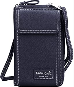 Women Crossbody Cell Phone Bag Small Shoulder Purse Leather Travel RFID Card Wallet Case Handbag Phone Pocket Baggap Clutch for iPhone 11 Se 2020 11 Pro Xr X Xs Max 8/7/6 Plus Samsung