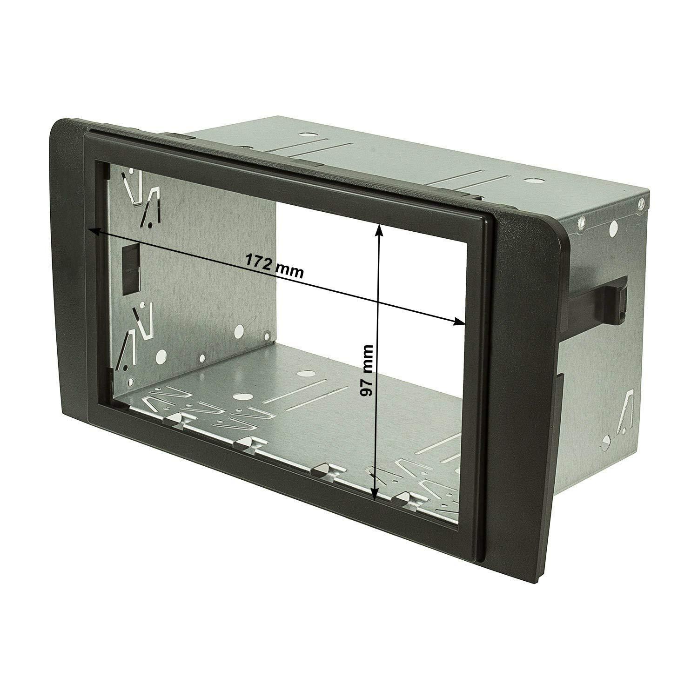 2403-037 colore: nero tomzz Audio/® set con mascherina telaio per autoradio doppio DIN