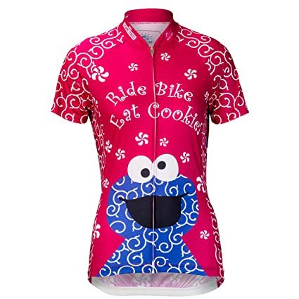 9e33bfafb Brainstorm Gear Women s Cookie Monster Pink Cycling Jersey - SSCC-W (Hot  Pink)