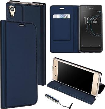 Guran® Funda de Cuero PU para Sony Xperia L1 Smartphone Flip Case ...