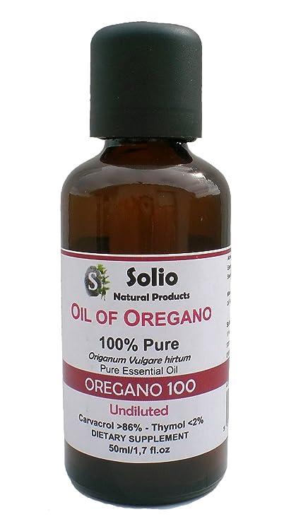 Orégano 100. 100% puro Griego Aceite Esencial Orégano 50 ml-1,7oz ...