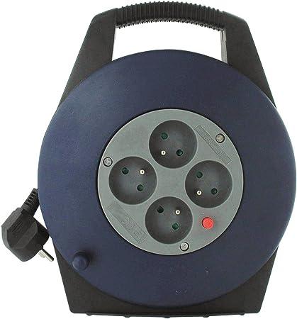 Enrouleur domestique Dhome Longueur 15 m H05 VV-F 3G 1,5 mm/²