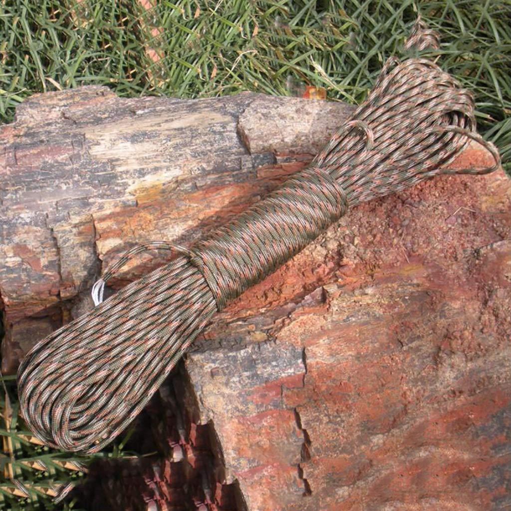 SCJ Cordes Corde d'escalade extérieure, Corde à Linge Suspendue extérieure de 30 m, Corde à Linge, Corde de sécurité antidérapante, 7 Couleurs (Couleur  C) B