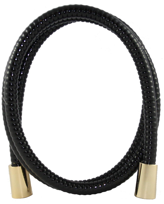 Santras tuyau de douche noirc anti-torsion unilat/éral dor/é 1.25 m