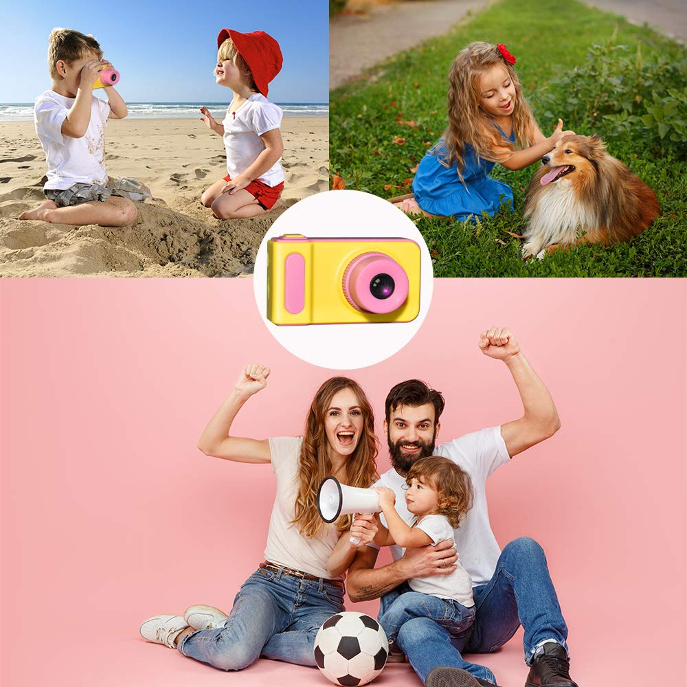 WIKI Birthday Presents Gifts for 3-8 Year Old Girls, Digital Camera for Kids Cool Toys for 3-8 Year Old Girls Outdoor Toys Age 3-8 Pink WKUSZXJ02 by WIKI (Image #3)