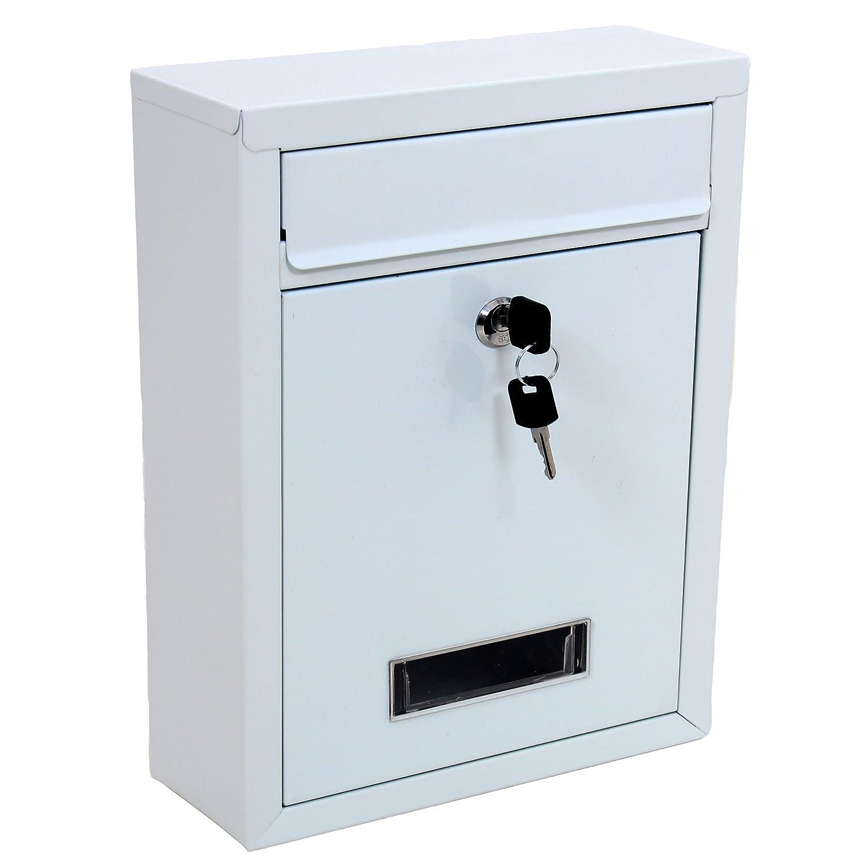 Blanc verrouillable à fixation murale Format lettre Boîte à lettres grande boîte aux lettres Boîte aux lettres Boîte aux lettres ABN Finest