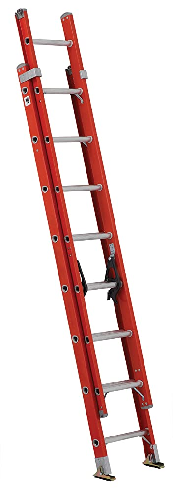 3. Louisville Ladder FE3216 Fiberglass Extension Ladder 300-Pound Capacity, 16-Feet