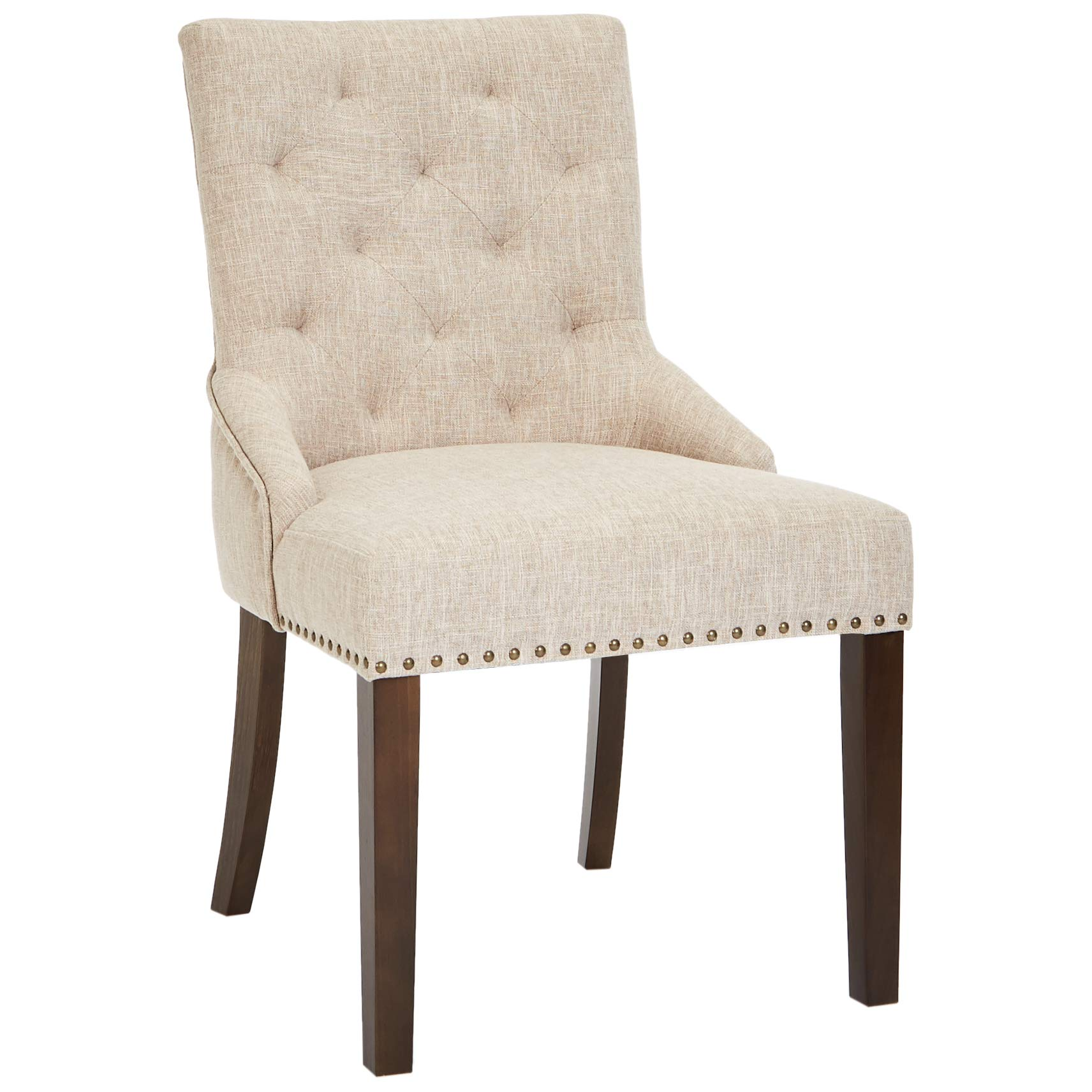 Red Hook Martil Upholstered Dining Chair with Nailhead Trim, Biscuit Beige, Set of 2 by Red Hook (Image #5)