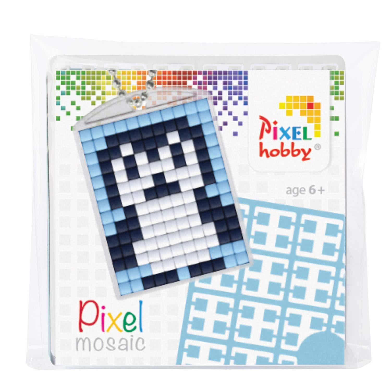 Ragazzi e Ragazze Pracht Creatives Hobby P23012 Pixel Set Medaglione Pinguino Multicolore per Il Compleanno dei Bambini Portachiavi Ideale Come Piccolo Regalo per Bambini Ciondolo