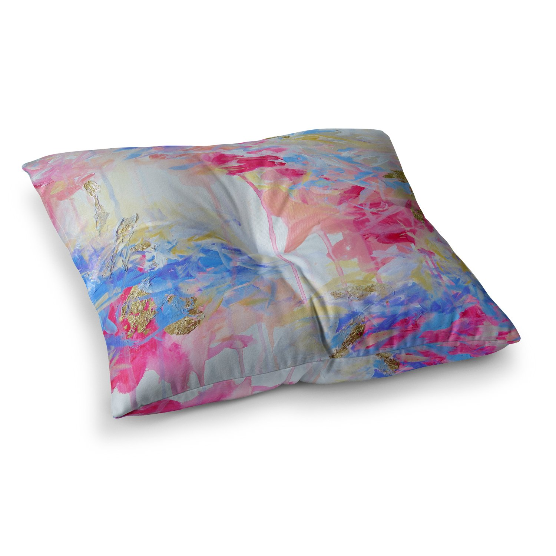 Kess InHouse EBI Emporium Whispered Song 1' Blue White, 23' x 23' Square Floor Pillow
