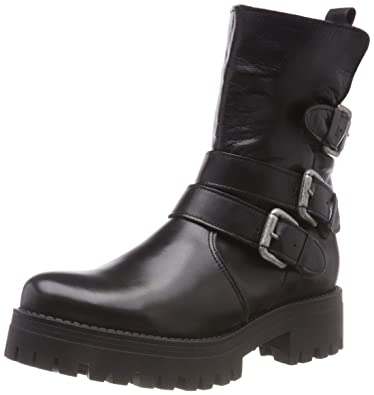 Buffalo Damen Mauve Morn Iberocrust Leather Biker Boots