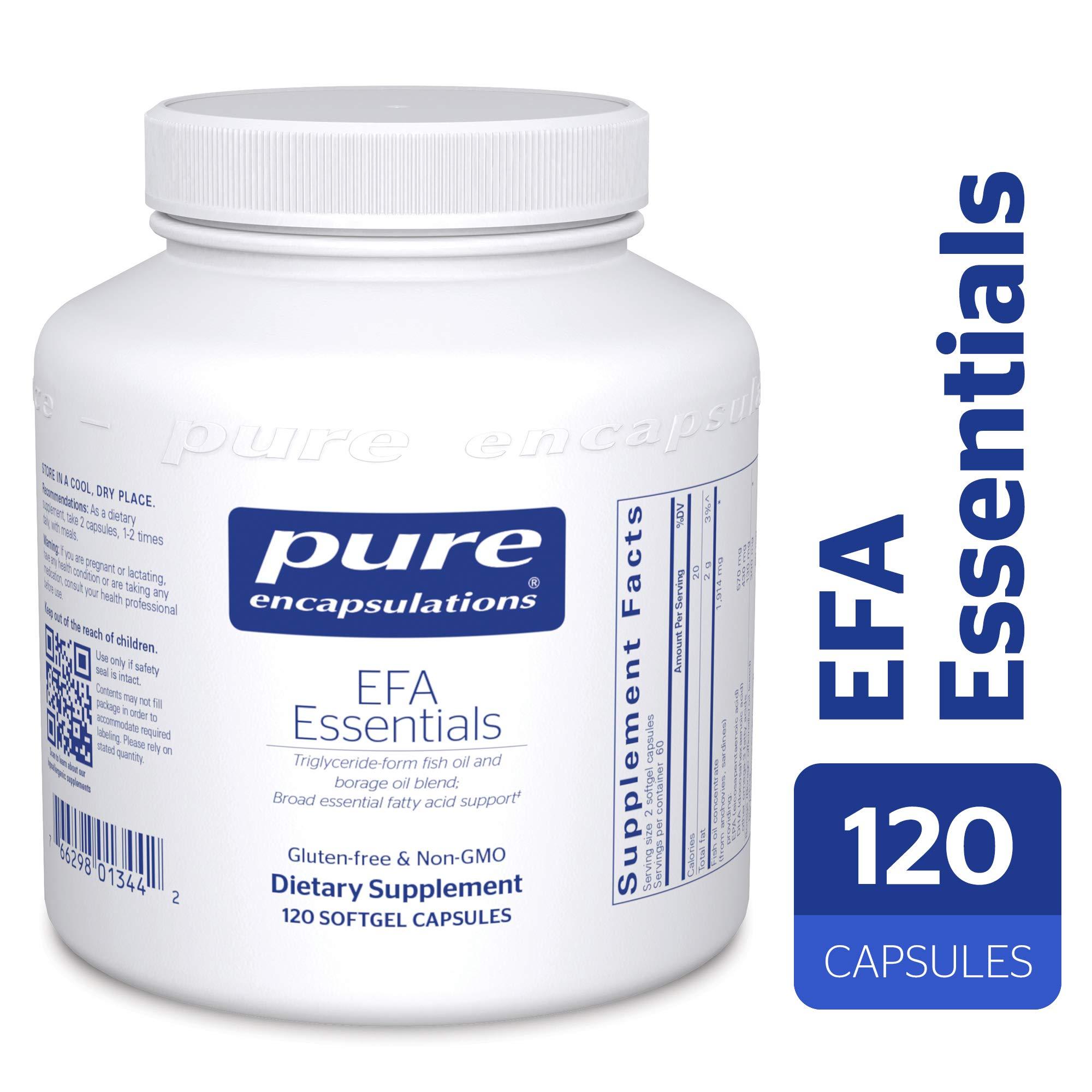 Pure Encapsulations - EFA Essentials - Triglyceride-Form Fish Oil and Borage Oil Blend - 120 Softgel Capsules