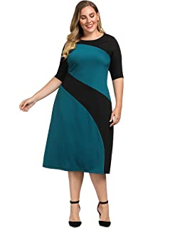 fd866fd926bdd Women's Plus Size Dresses Maxi Lace Dress Short Sleeve Casual Work ...