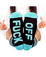 Liyuandian Mens Womens Ankle Novelty Crew Funny Black Athletic Low Cut Socks Fuck Off