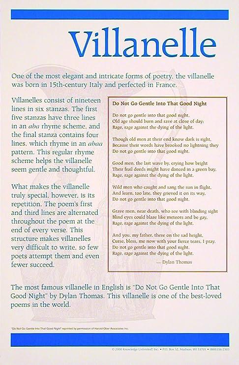 Amazon com: Knowledge Unlimited Inc  Villanelle - Poetry