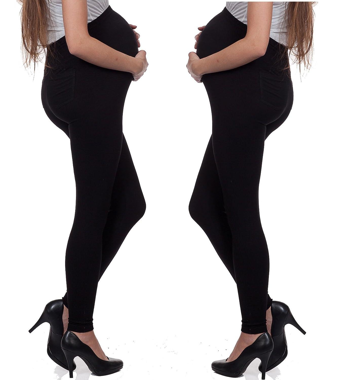 Nitis Umstandsmode - Leggings spécial grossesse - 100 DEN - Femme Noir Noir N-Leggings-schwarz