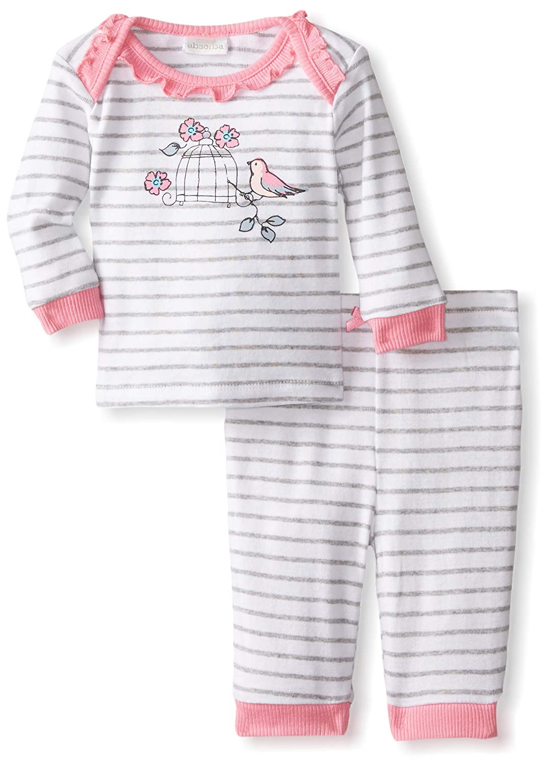 faf27a02271c Amazon.com  Absorba Baby Girls  Bird Layette Set (Baby)  Clothing