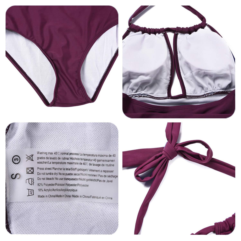 33c670f6f05 Eomenie One Piece Swimsuits for Women Slimming Monokini Tummy Control  Swimwear Plus Size Bathing Suits V Neckline Halter - YB270 < One-Pieces <  Clothing, ...