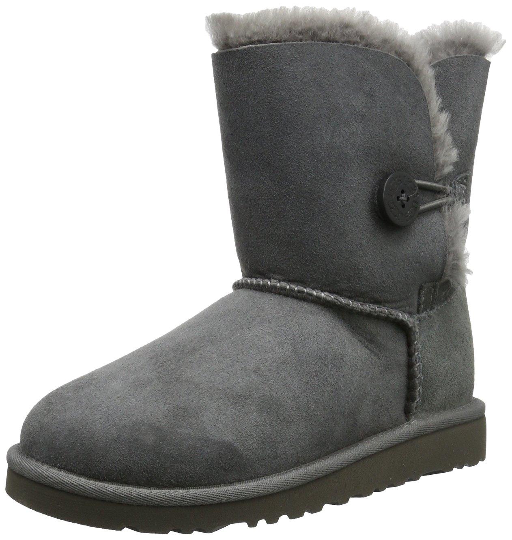 Ugg Australia Bailey Button Girls' Boots, gris (Grigio (grey)), 9 UK Child