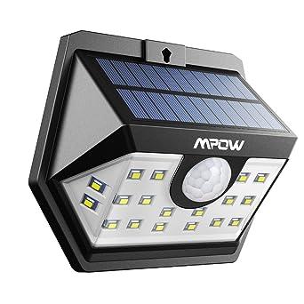 Mpow [Version Avancée] Lampe Solaire 20 LED Etanche Détecteur de