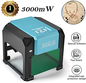 Amazon.com: Máquina de grabado láser, 3000 mW, mini grabador ...