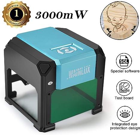 Grabador L/áser Compacto Mini Cortador De Impresora L/áser Port/átil De Mano M/áquina De Grabado L/áser De Escritorio Para El Hogar Con Gafas Protectoras Para El Dise/ño De Logotipos De Bricolaje