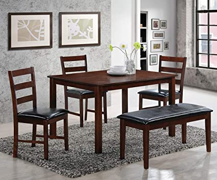 Fantastic Amazon Com Mollai Collection 5 Pc Dining Table With 3 Onthecornerstone Fun Painted Chair Ideas Images Onthecornerstoneorg