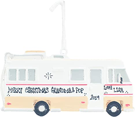 Polar X RV Camper Personalized Christmas Tree Ornament
