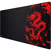 JIALONG Gaming Mouse Pad Large Size (900x400mm) Water-Resistant with Non-Slip Rubber Base, Special-Textured Surface…