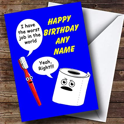 Amazon Funny Toilet Roll And Toothbrush Personalized Birthday