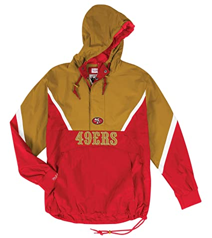 huge selection of 0bbe6 4f452 Amazon.com : Mitchell & Ness San Francisco 49ers Mens Anorak ...