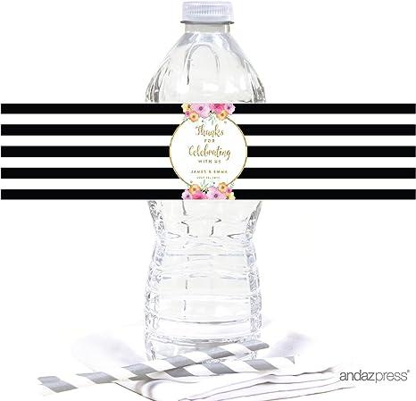 100 Feet Baby Shower Water Bottle Labels Personalized Waterproof self adhesive
