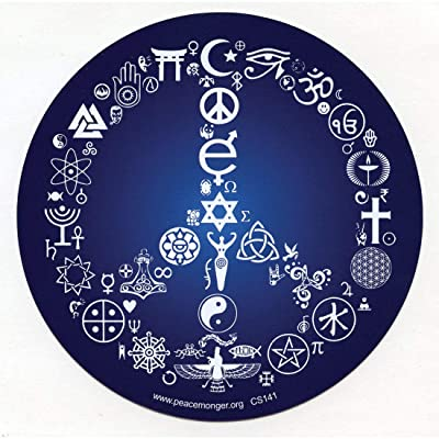 "Coexist Word Symbol Peace Sign Esoteric Interfaith Bumper Sticker/Decal 5"" Circular: Sports & Outdoors [5Bkhe2004279]"