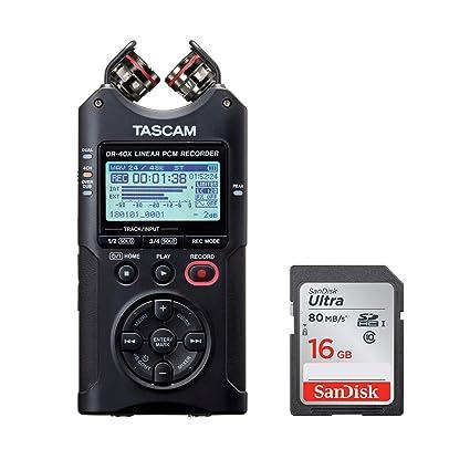 Amazon.com: Tascam DR-40X - Grabadora de audio (4 vías ...