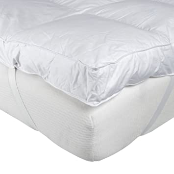 thick mattress pad. Homescapes - Soft New Whole White Goose Feather Bed Single 7cm EXTRA Thick Mattress Topper 100% Cotton Anti Dust Mite \u0026 Proof Fabric Pad C