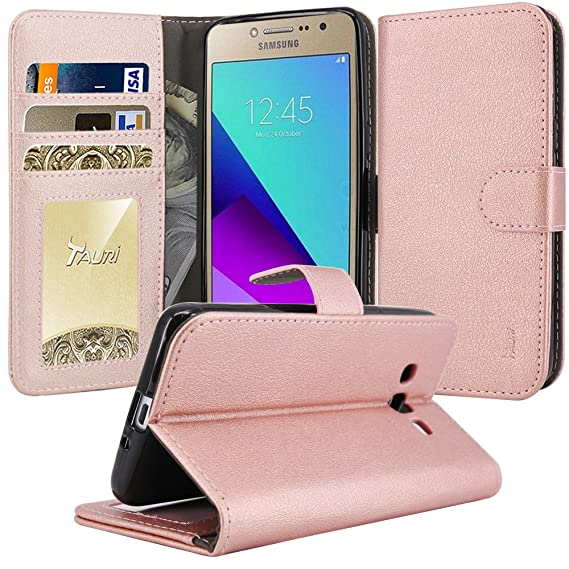 promo code fb735 cc3e2 Galaxy Grand Prime Plus Case, Galaxy J2 Prime Case, TAURI [Kickstand]  Wallet Leather with Card Pockets Protective Flip Cover For Samsung Galaxy  J2 ...