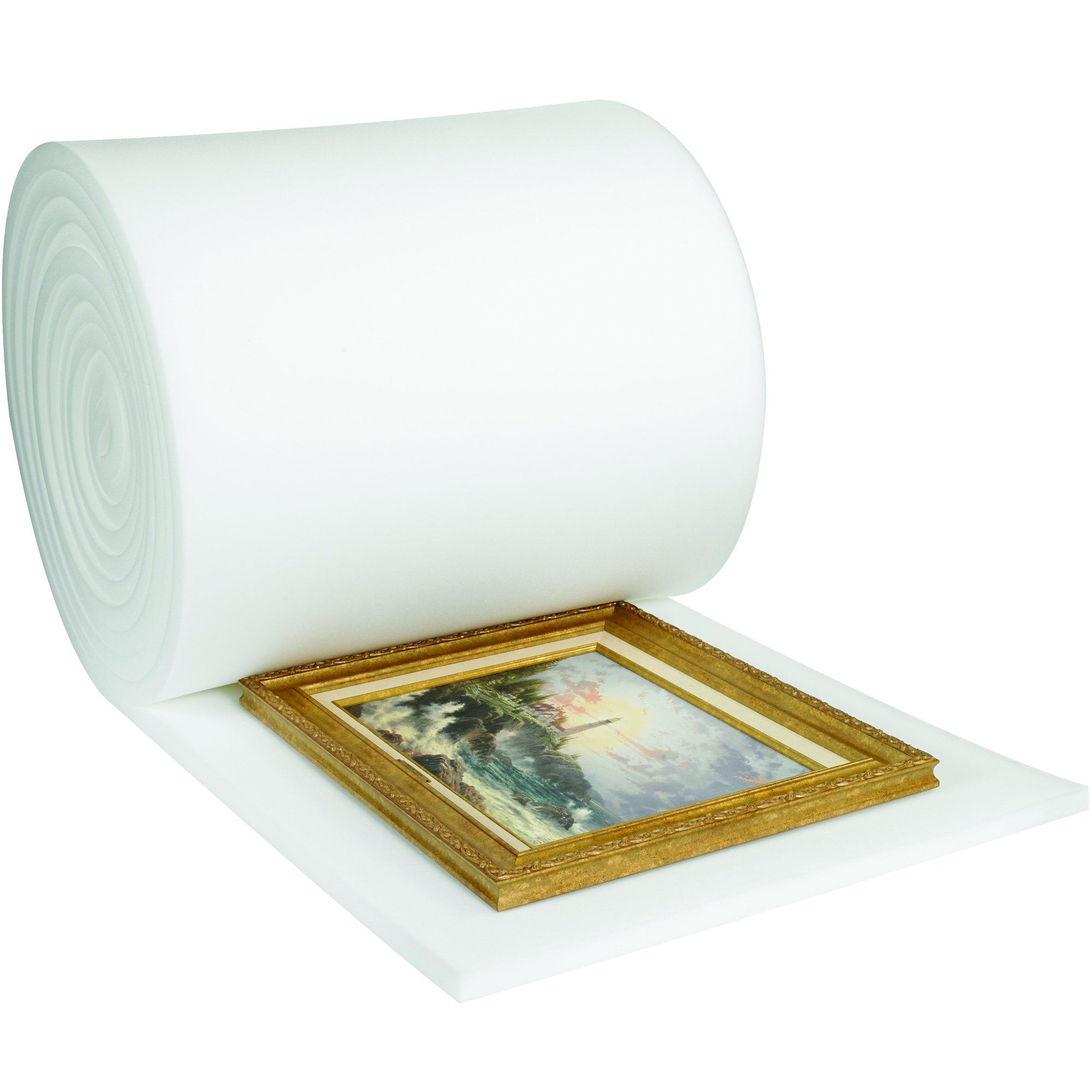 Ship Now Supply SNFR1236 Soft Foam Roll, 1'' x 12'' x 36', 12'' width, 1'' Height, White