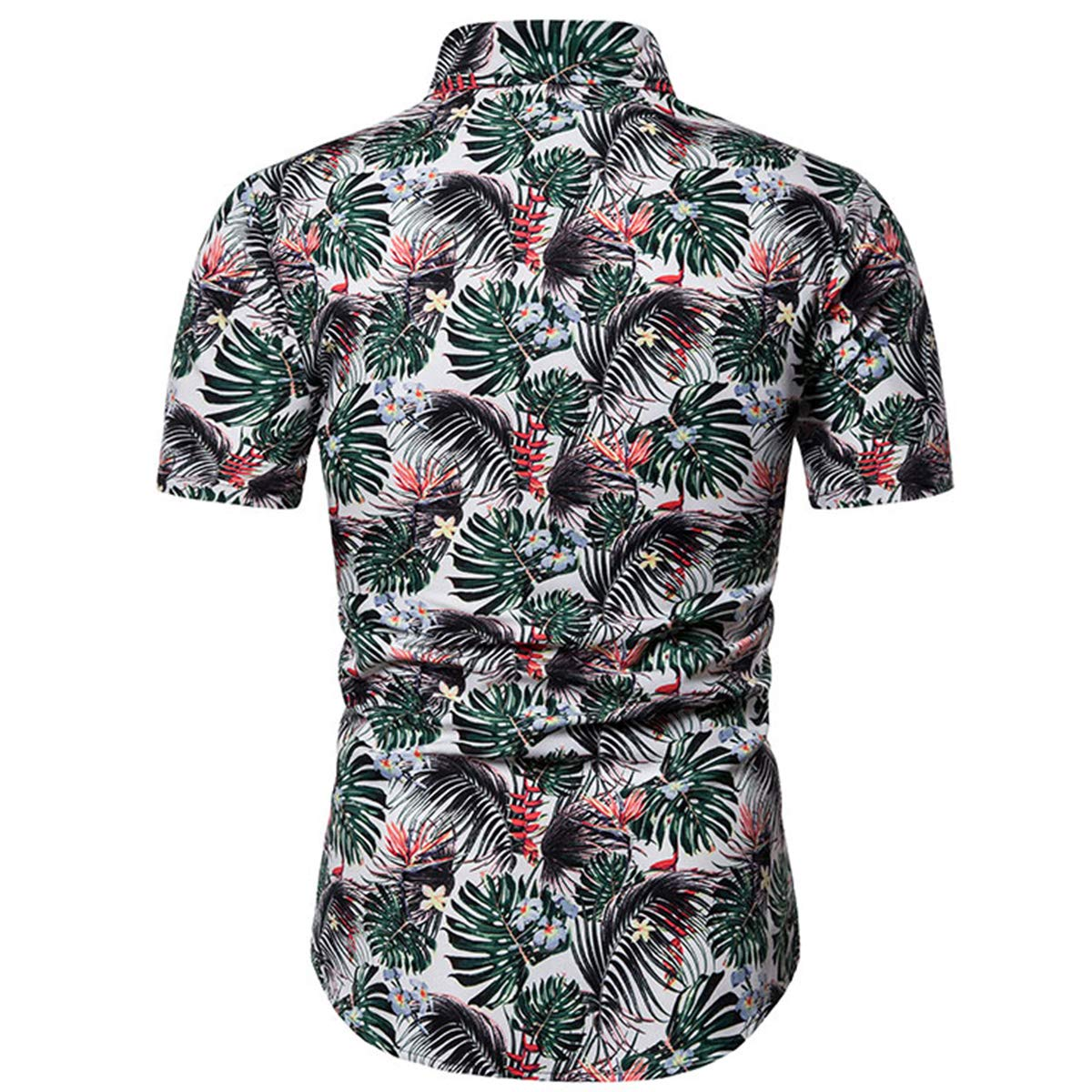 Hawaiian Shirts for Men Short Sleeve Regular Fit Floral Fashion Shirts Tropical Beach Holiday Button Down Shirt