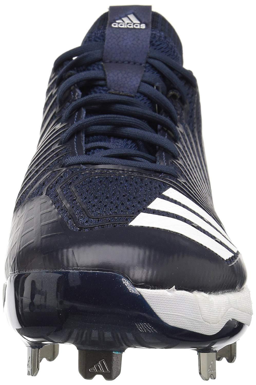 adidas Men's Freak X Carbon Mid Baseball Shoe, Collegiate Navy/White/Metallic Silver, 7.5 Medium US by adidas (Image #2)